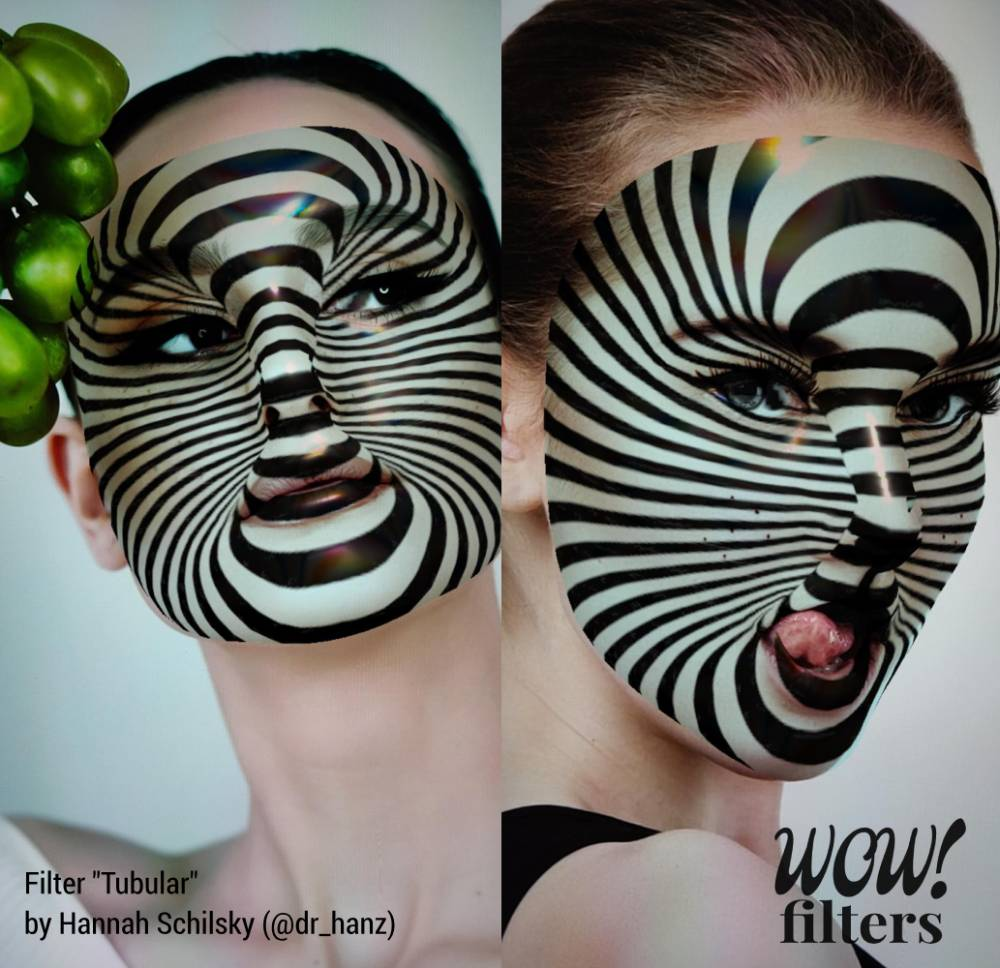Optical illusion Instagram face mask