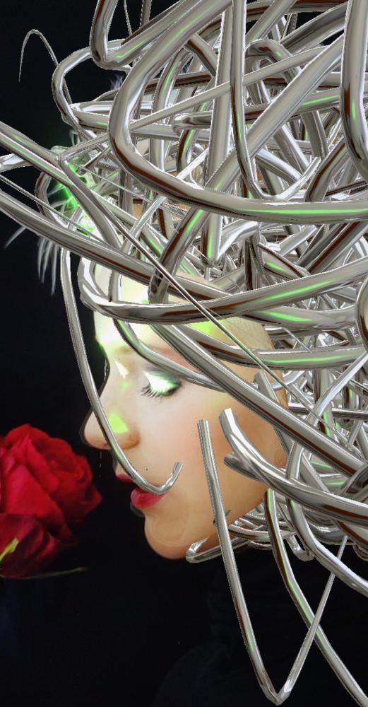 Metal Pipe Scrap Hairstyle