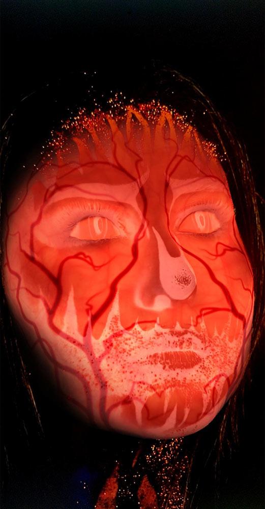 Inner Glow - Creepy Halloween Human Egg
