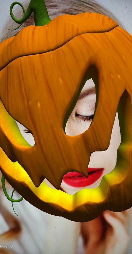 Halloween Pumpkin Head Costume