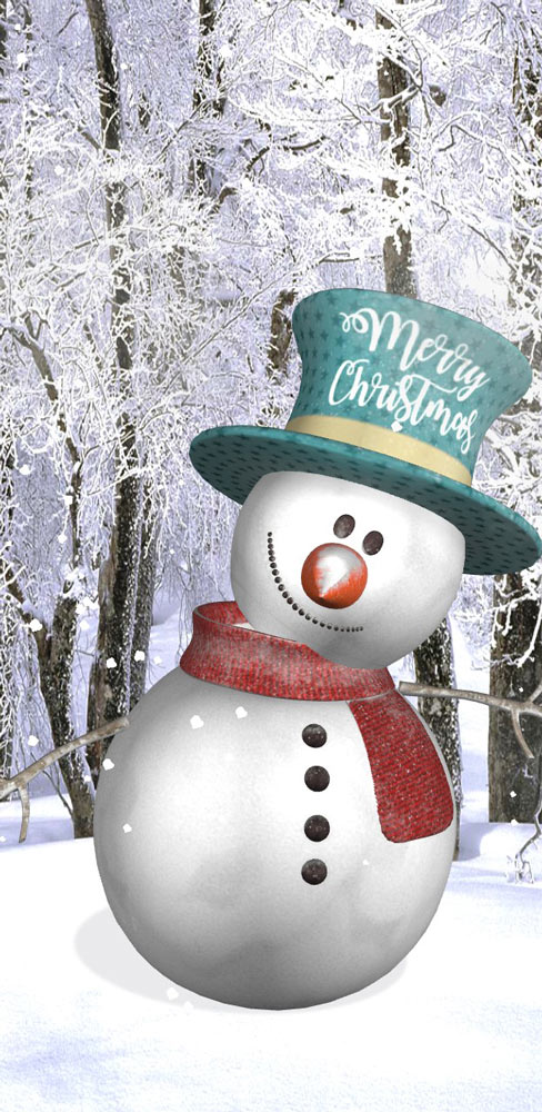 Christmas Snowman & Snowfall Effect