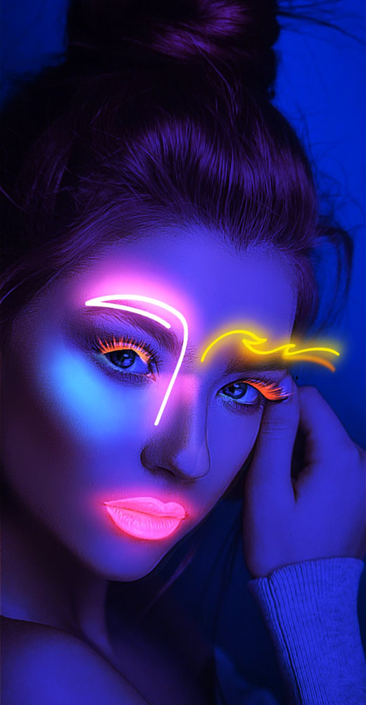 Neon Night - Glowing 3D Makeup