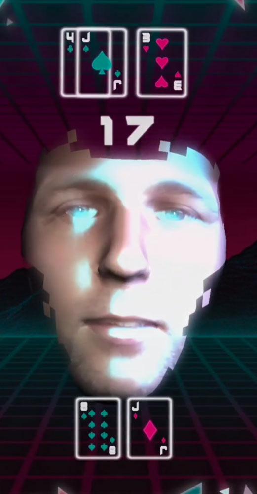 How to get Vaporjack Blackjack Instagram Face Game?