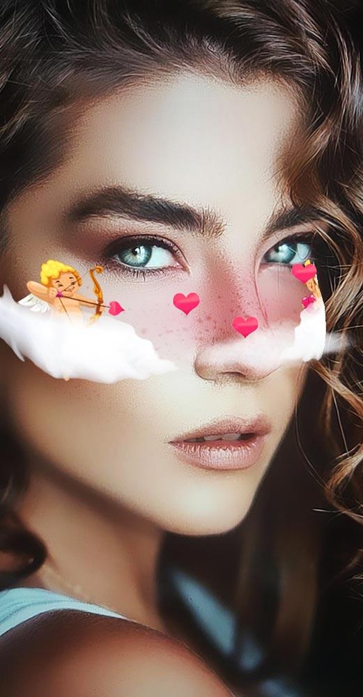 Cupid Shoots Love Arrows