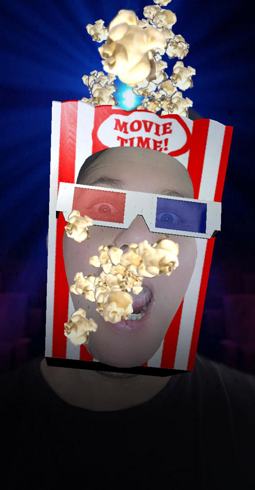 Hollywood Effect - Watching Movie with Popcorn