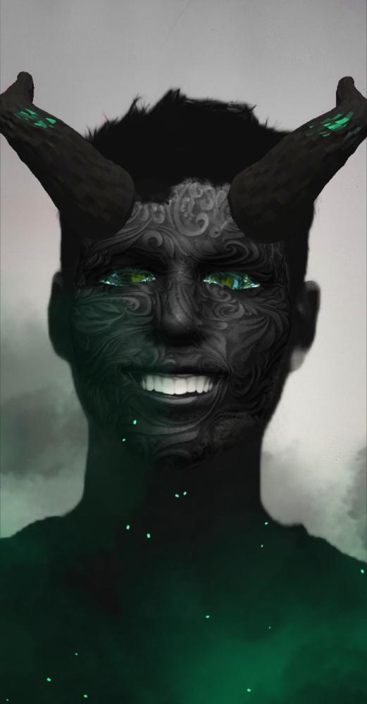 Smoldering Demon AR Face Mask