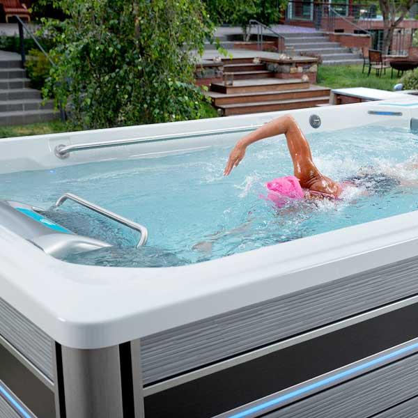 In-Home Swim Spa Consultation Family Image