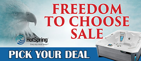 Freedom to Choose Sale: Hot Tubs