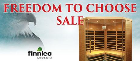 Freedom to Choose Sale: Saunas