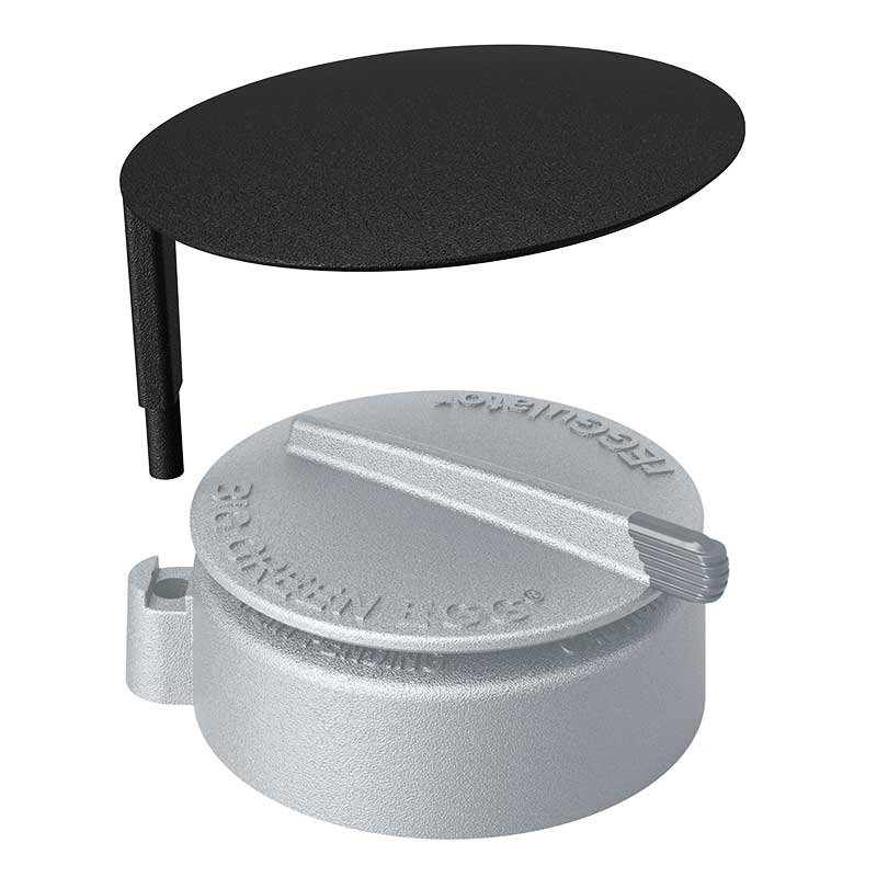 Product detail image of rain cap for the Big Green Egg