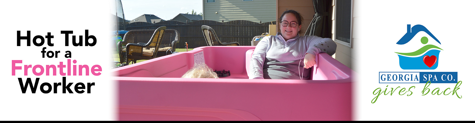 Hot Tub for a Frontline Worker Delivery