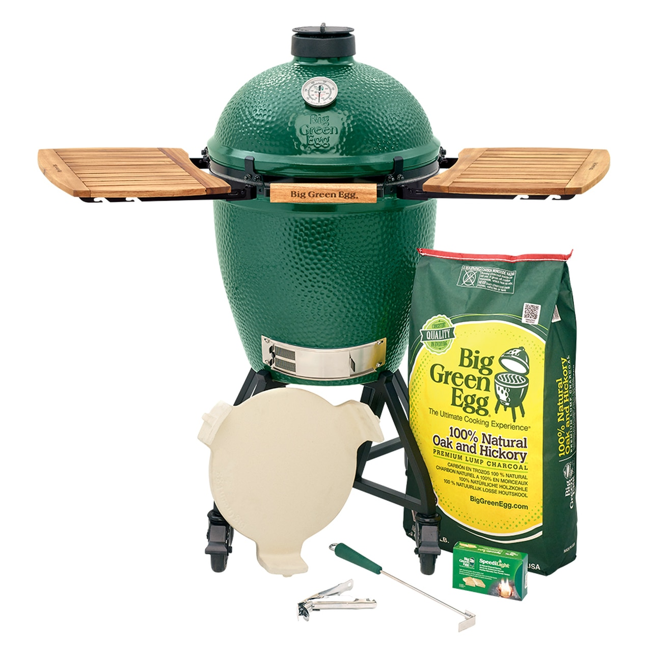 Large Big Green Egg IntEGGrated Nest+Handler with Mates Package