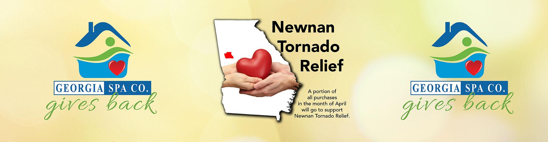 Gives Back Newnan Tornado Relief