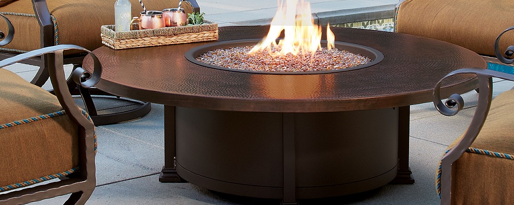 Hammered Copper Fire Pits by O.W. Lee