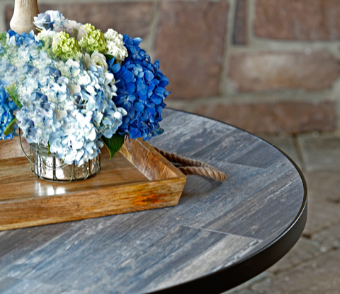Reclaimed Series Porcelain Table Tops by O.W. Lee