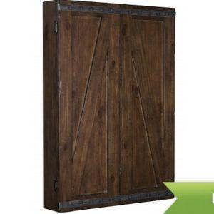 Legacy Rustic Dartboard Cabinet