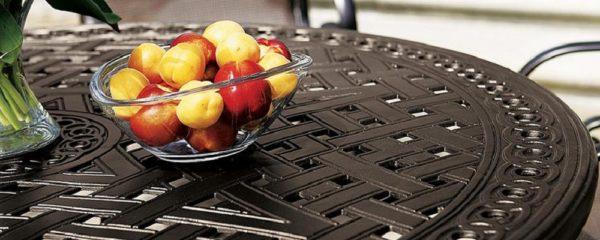 Garden Terrace Cast Aluminum Tables by Tropitone