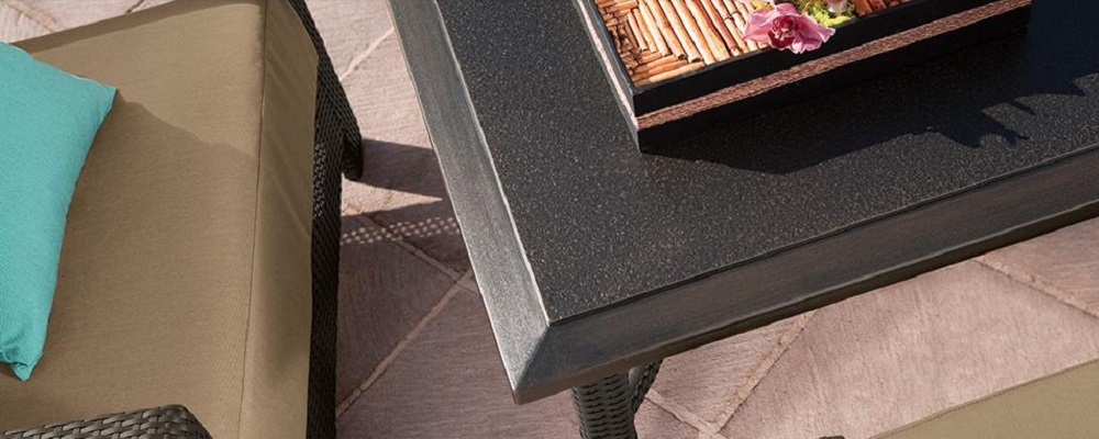 Summit Faux-Granite Polymer Table Tops by Tropitone