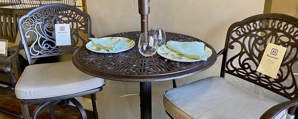 Roma aluminium round white table D:60