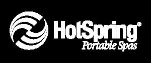 Hot Spring Spas   Logo All White