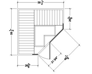 Finnleo Far-Infrared S870 Serenity Sauna Layout
