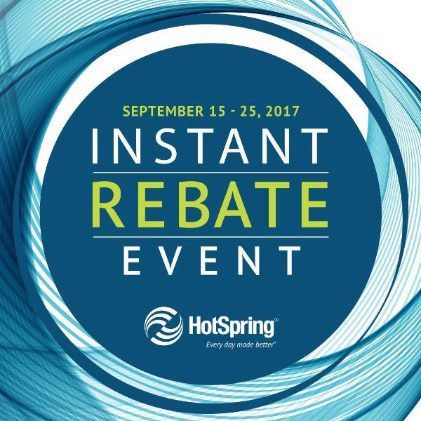 Hot Spring Hot Tub's Instant Rebate Event!