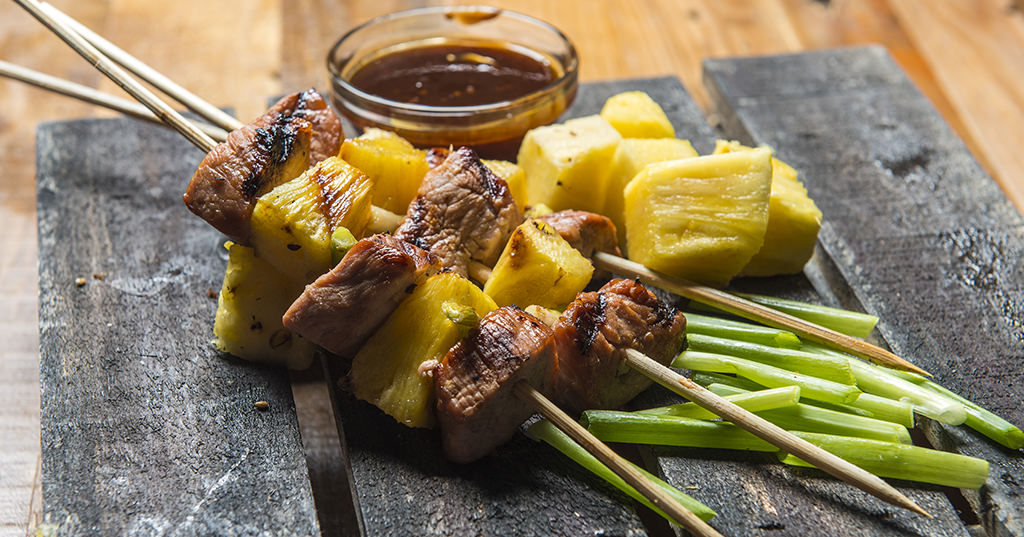 Sticky Teriyaki Pork & Pineapple Skewers – Traeger