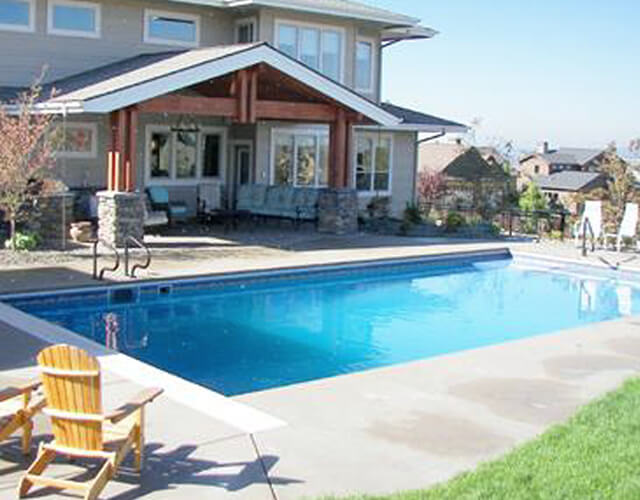 Engineered Concrete Wall Vinyl Lined Swimming Pools Pool