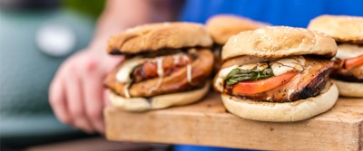 Stuffed Caprese Chicken Sandwich – Big Green Egg