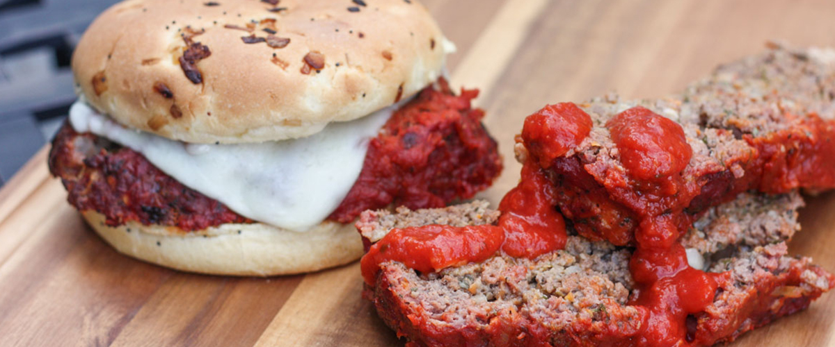 Grilled Italian Meatloaf Sandwich – Big Green Egg