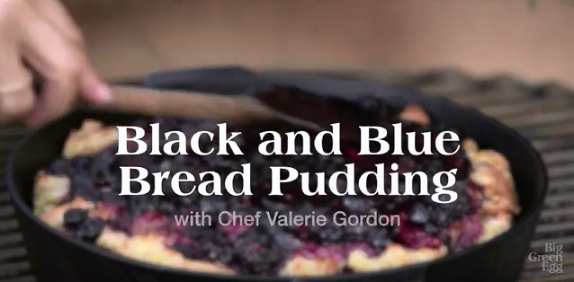 Black and Blue Bread Pudding