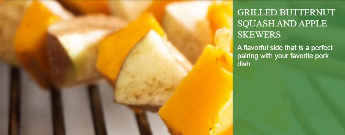 Grilled Butternut Squash and Apple Skewers
