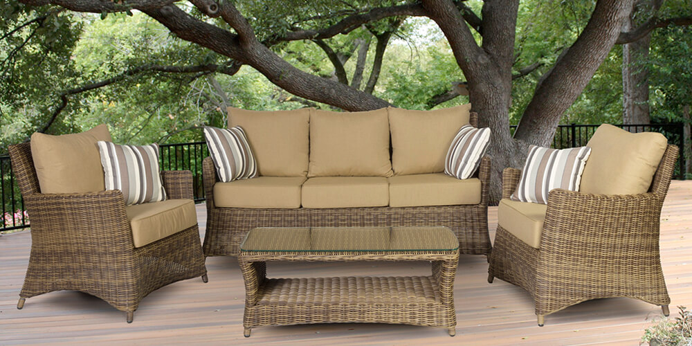 Mendoza Collection Outdoor Patio Furniture Family Image