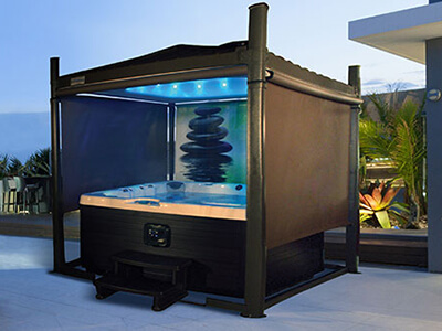 The Covana Automatic Cover And Gazebo Spring Dance Hot Tubs