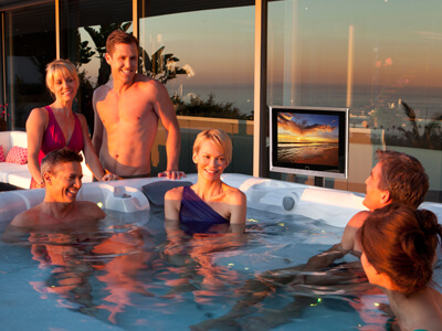 Hot Tub Entertainment Family Image