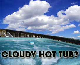 Cloudy Hot Tub