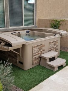 DIY Alaska Backyard Tuff Tub on Grass