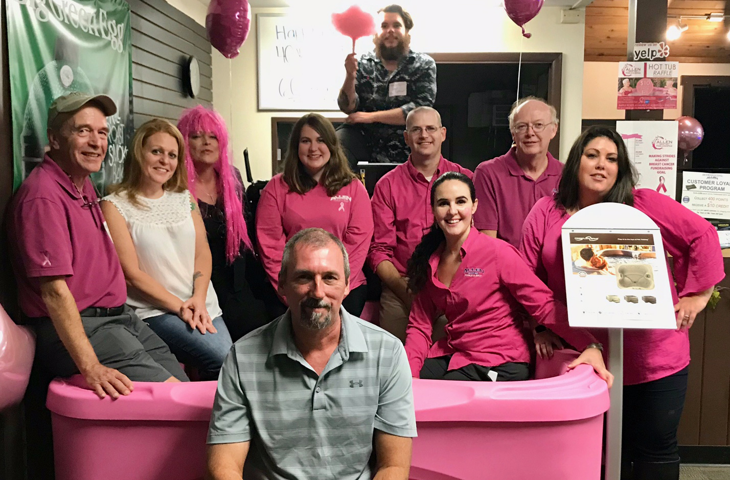 Allen Pools & Spas is Making Strides Against Breast Cancer