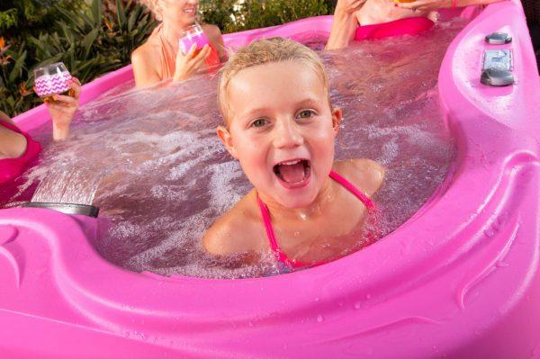 hot tub sale pink