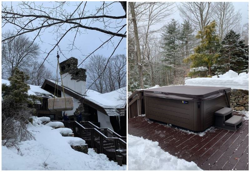 year end clearance hot tub sale