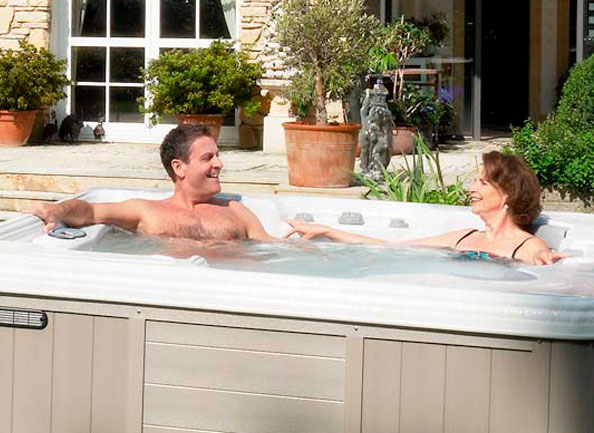 Affordable spas on patio