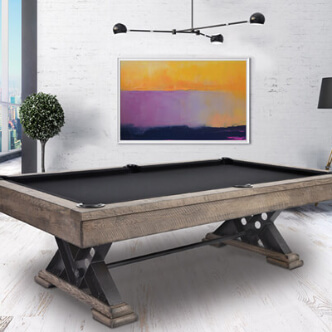 Billiard table and supplies for home
