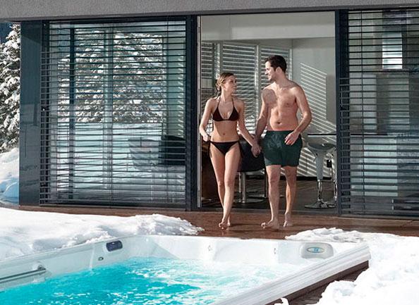 Swim spa lap pool
