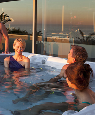 Hot Tub Enjoyment Family Image