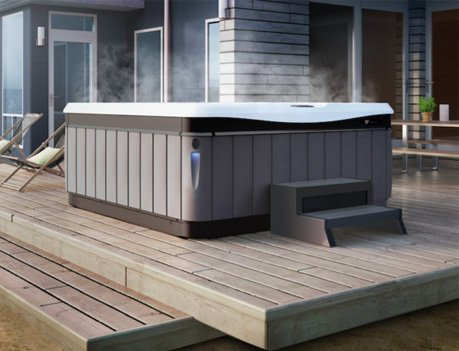 Hot Tub on Wood Porch