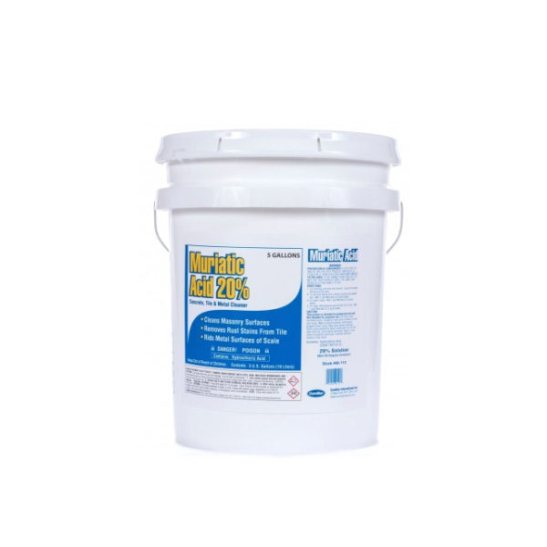 Muriatic Acid 20% Five Gallon