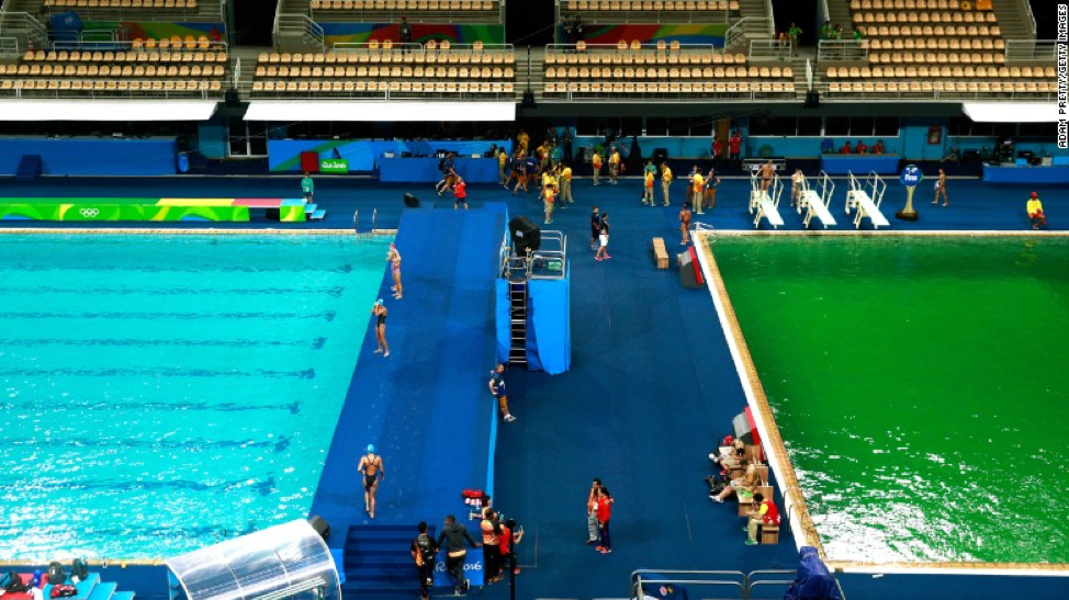 Blue Tiles In Olympic Pools