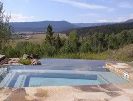 Pool Overlooking Mountain Valley