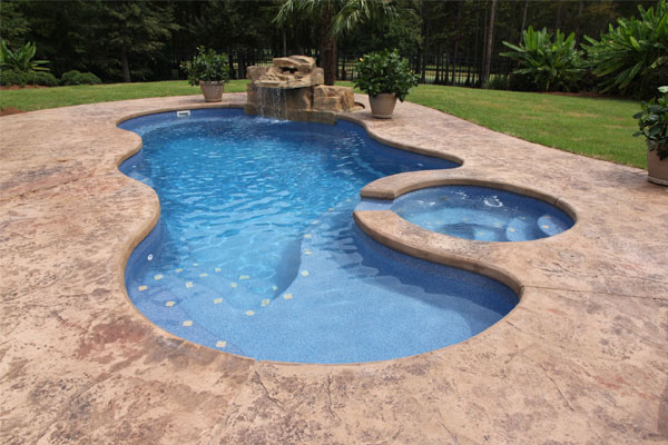 Latham Fiberglass Pools Family Image