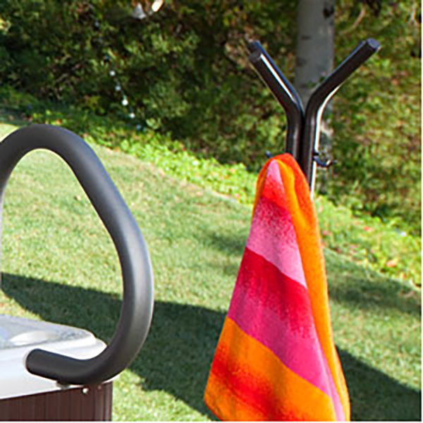 Hot Spring 174 Spa Side Towel Tree Backyard Oasis
